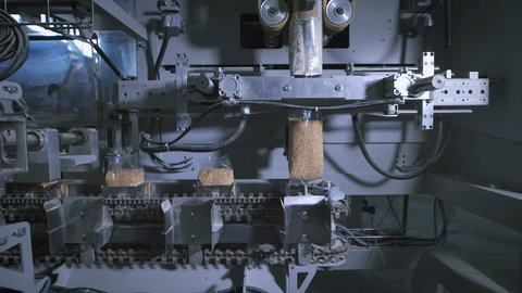 Factory for packing of cereals and other food products. There packing rice.