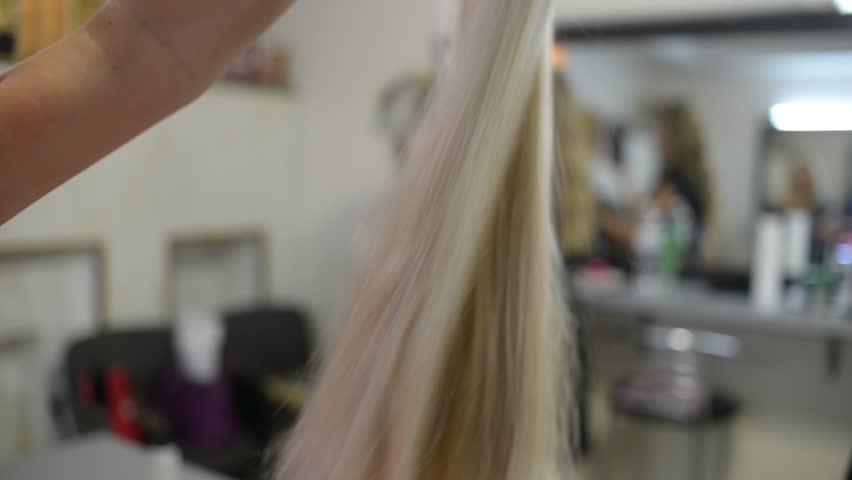 Header of hairdresser