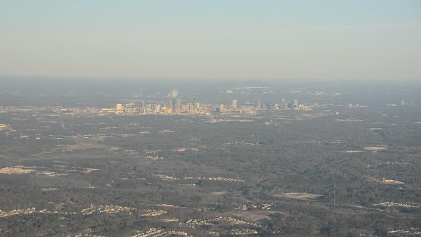 Downtown Atlanta Georgia Aerial View Stock Footage Video - Distance to atlanta georgia
