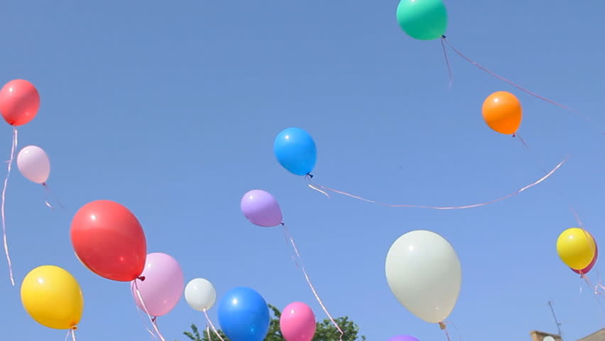 Balloons, holiday, children's holiday, feast, fiesta, fete , gala day | Shutterstock HD Video #1962982