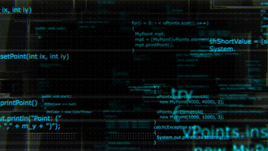 Software developer programming code. Abstract grunge computer background with Java program code, looping 4K 3d background. | Shutterstock HD Video #19642105