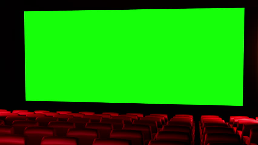 Cinema 3D render seamless loop - Version 01 Canvas is 2.39 cinema aspect ratio - green screen. In this version seats not getting light effects from the canvas.For more realism see Version 02 and 04 | Shutterstock HD Video #1968526