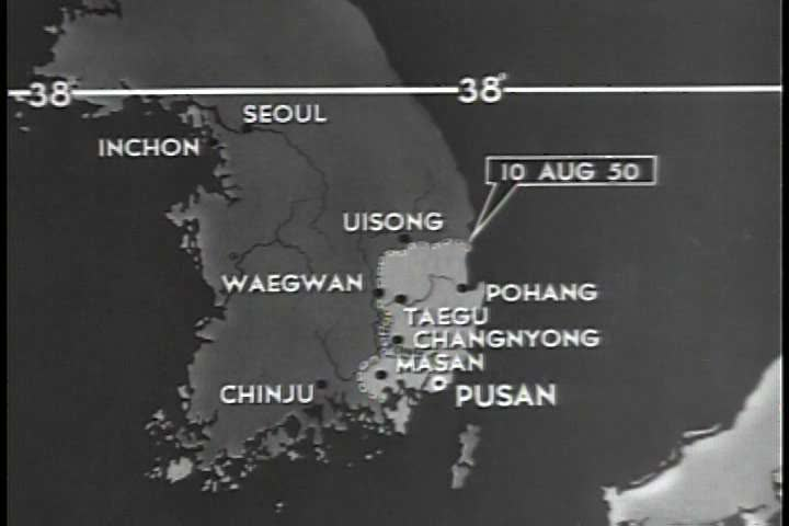 A Map Shows the United Stock Footage Video (100% Royalty-free) 19706059 Korean War Pusan Map on korean war panmunjom map, korean war pohang map, korean war seoul map,