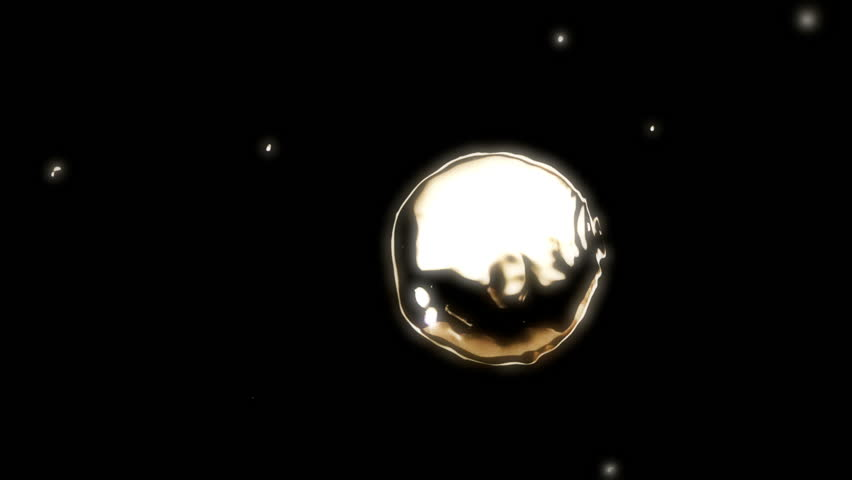 High quality motion animation representing various abstract and fluid metallic liquid elements, animated on a black background.