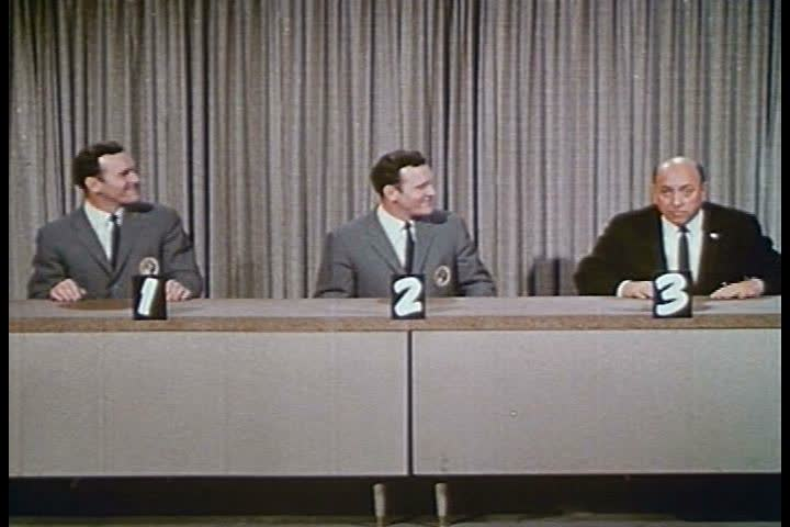 """The final segment of the 1960s TV show """"To Tell the Truth"""" is parodied in 1964. (1960s)"""