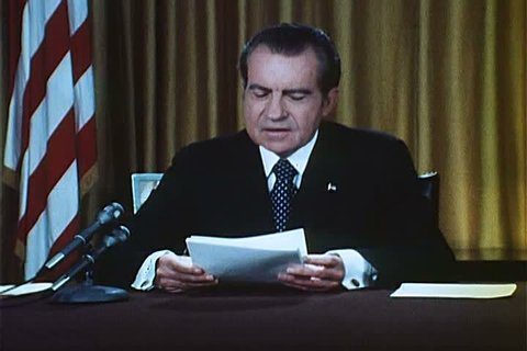 In a 1973 speech, President Nixon recounts that he heard about Watergate from news reports, and was appalled. (1970s)