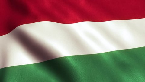 Hungary Flag. Seamless Looping Animation. 4K High Definition Video