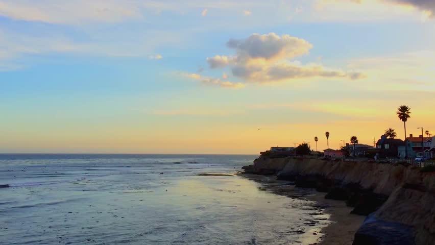 Santa Cruz, Pleasure Point, on the northern Monterey Bay in Santa Cruz County, California, USA, a world renowned surf location