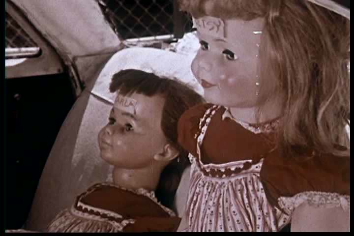 Regarding the frightening results of car collision experiments with test dummies at UCLA, a doctor urges viewers to be prepared always keep their children safely restrained in cars in 1962. (1960s)