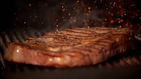 Cooking meat in slow motion