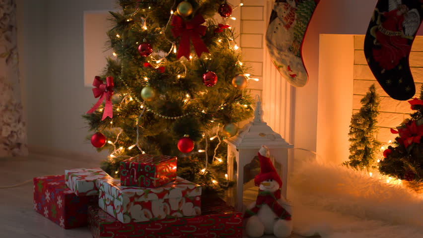 decorated christmas stock footage video 100 royalty free 19925689 shutterstock - Videos Of Decorated Christmas Trees