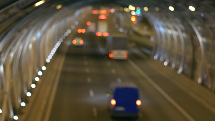 Modern tunnel onhighway in Warsaw. Scene of cars and trucks in the tunnel. | Shutterstock HD Video #19930849