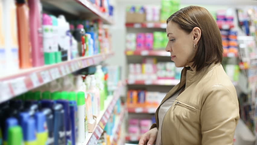 Woman buys shampoo | Shutterstock HD Video #19954549