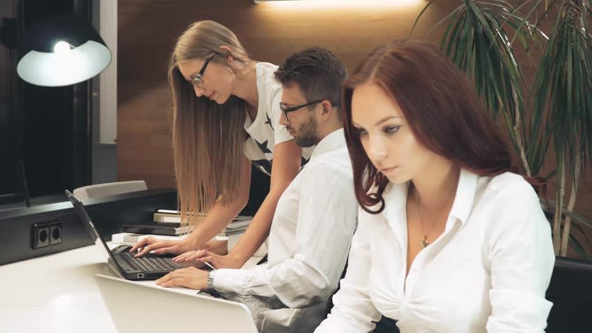 Business team at work | Shutterstock HD Video #20016127