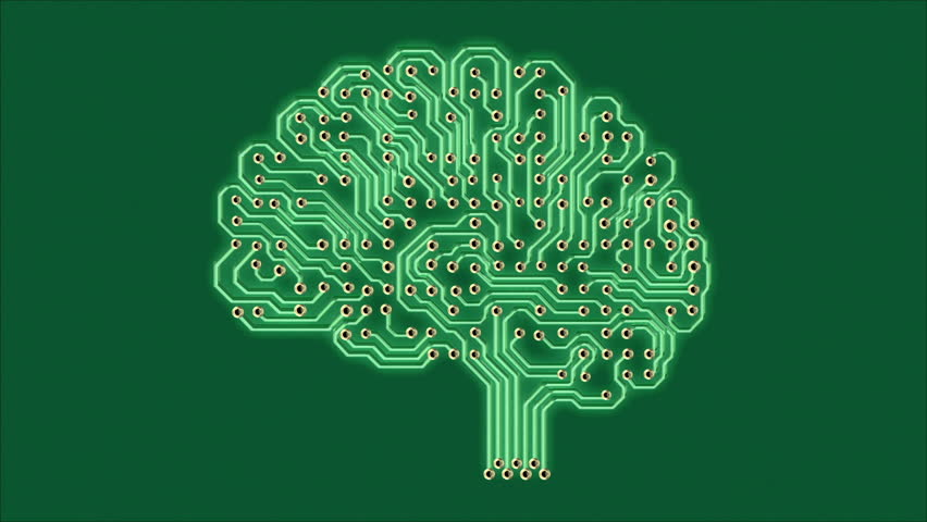 Pulsating electronic brain, seamless looped 3d animation with an alpha matte | Shutterstock HD Video #20072899