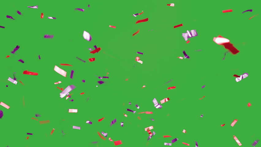 Real falling confetti in the colors purple and red for  advertising, family, club, victories, national or company celebration | Shutterstock HD Video #20073118