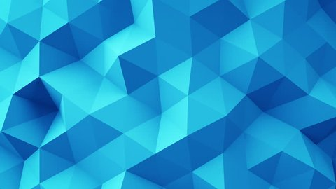 Blue polygonal geometric surface. Computer generated seamless loop abstract motion background. 4k UHD (3840x2160)