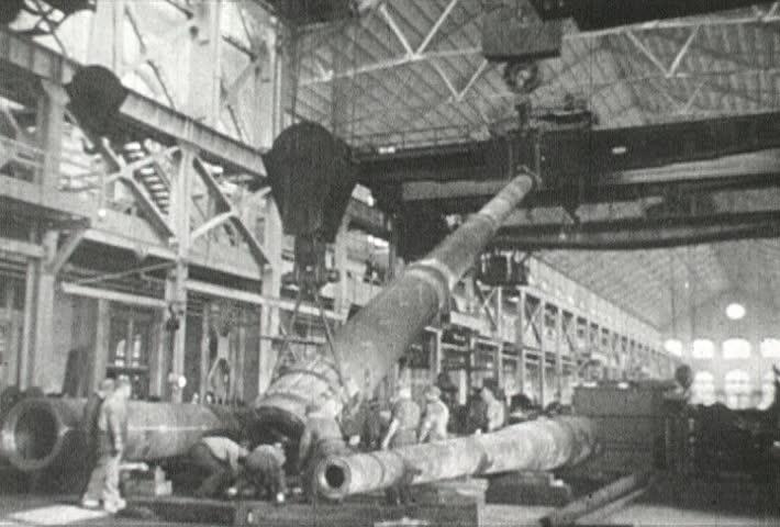 EUROPE - CIRCA 1942-1944: World War II, weapon making bomb gun tank montage