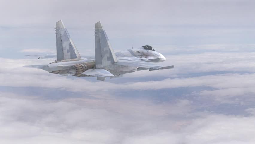 Russian SU 35 Flanker Flight Animation 3D