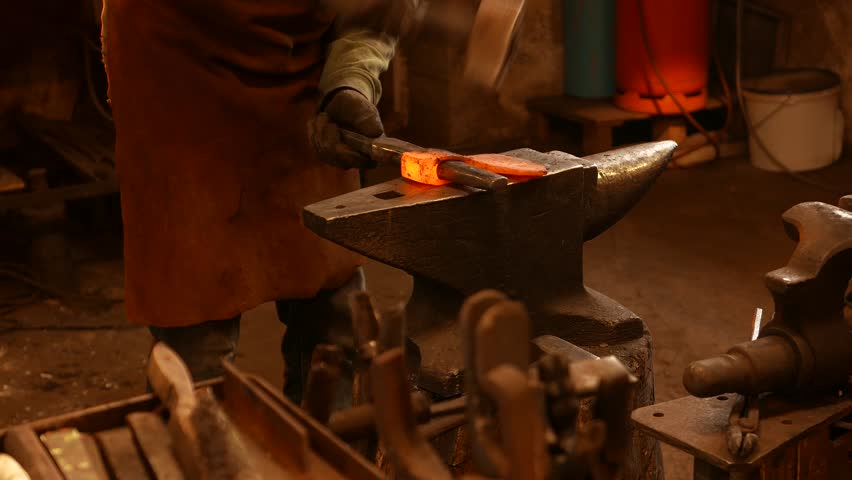 The Blacksmith Forging the Molten Stock Footage Video (100% Royalty-free)  20272099 | Shutterstock