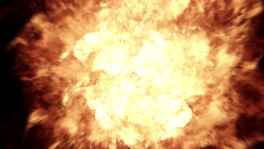 Realistic 4K Fireball Explosion. Contains three different animation.