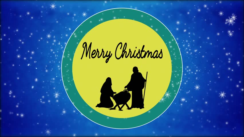 Stock Video Of Merry Christmas Mary And Joseph