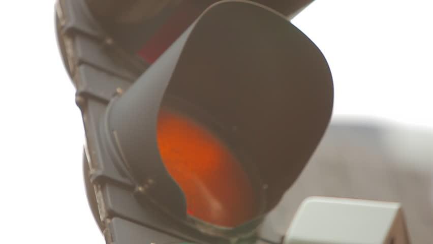 Traffic light in downtown Boston, MA