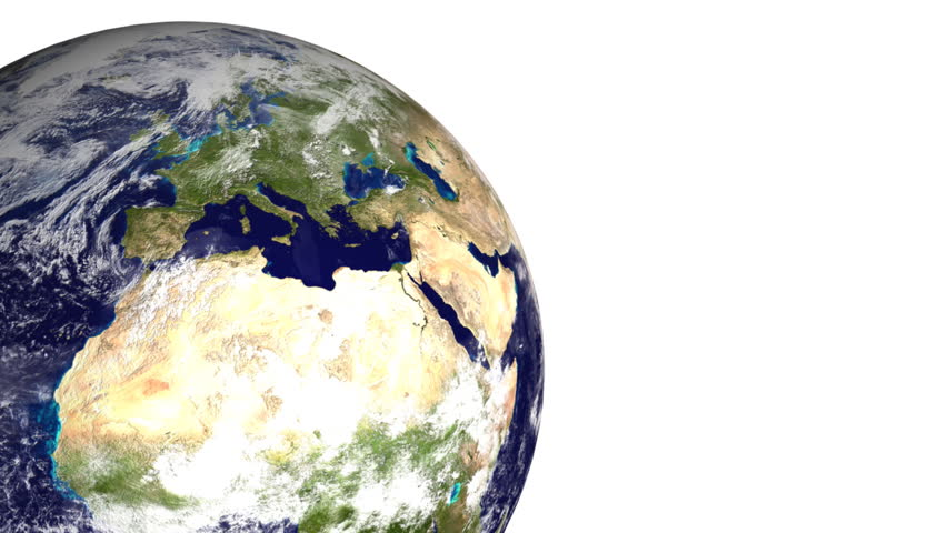 Earth 06 (HD) - boxes are creating Earth on the white background.   Shutterstock HD Video #203752