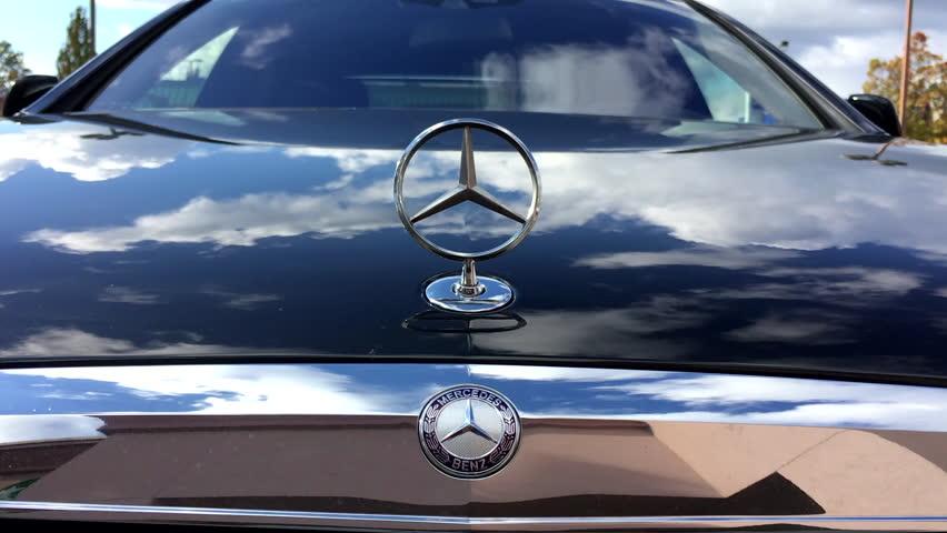 Port coquitlam bc canada october 10 2016 close up for Mercedes benz stock symbol