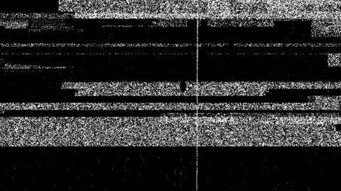 Grey Dirty Noise On Black Glitch Video Damage Background