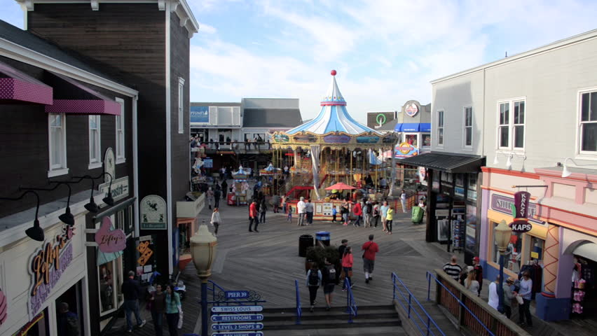 SAN FRANCISCO - OCTOBER 22: View of Pier 39 in San Francisco on October 22, 2015 Pier 39 is a popular destination for tourists