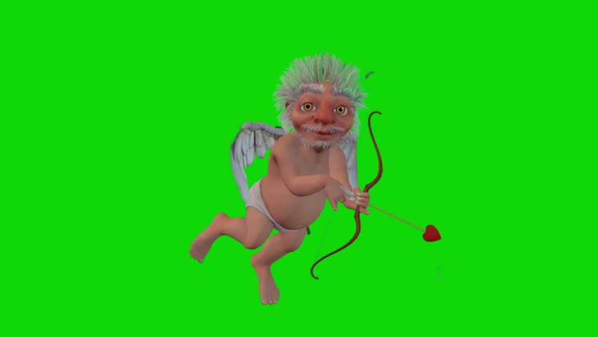 Cupid, the love angel, Green Screen
