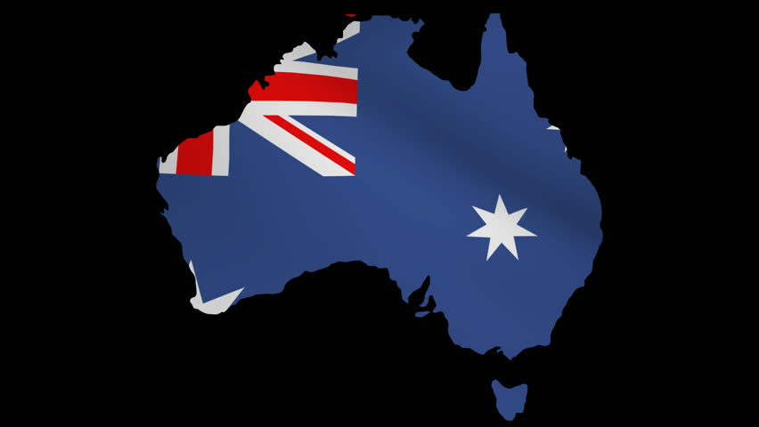 Australia Map Video.Australia Map With Rippling Flag Stock Footage Video 100 Royalty Free 2067758 Shutterstock