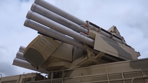 Russian weapons.The complex of missiles and large-caliber machine-guns