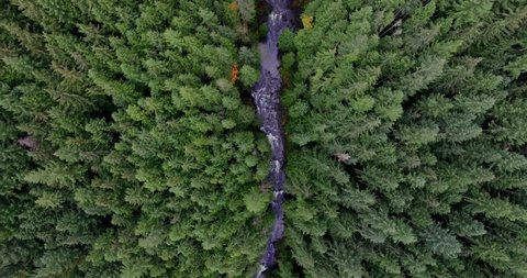 Amazing Aerial Footage Looking Straight Down Above Water Falls