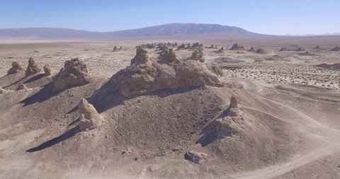 Trona Pinnacles Aerial, California
