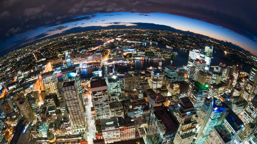 4k timelapse video of Sydney CBD at night