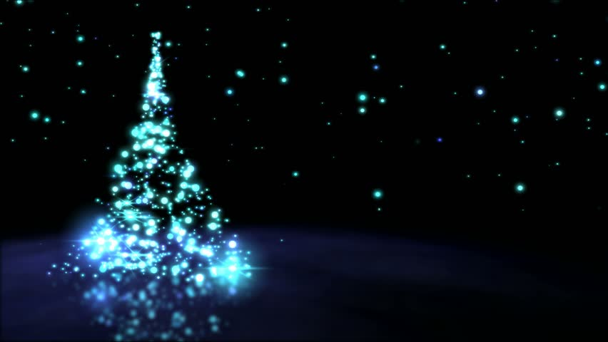 Sparkling Christmas Tree Animation - Loop Blue | Shutterstock HD Video #20842480