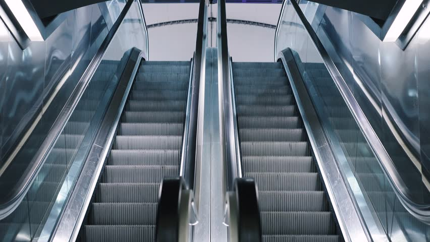 Stock Video Of Close Up Shot Of Empty Moving Staircase | 20849149 |  Shutterstock