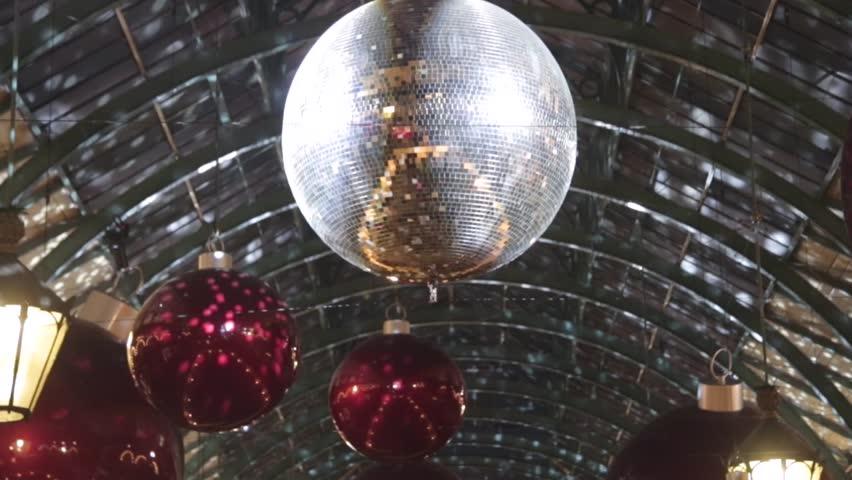 Christmas Pendants and Disco Ball Reflections Decoration