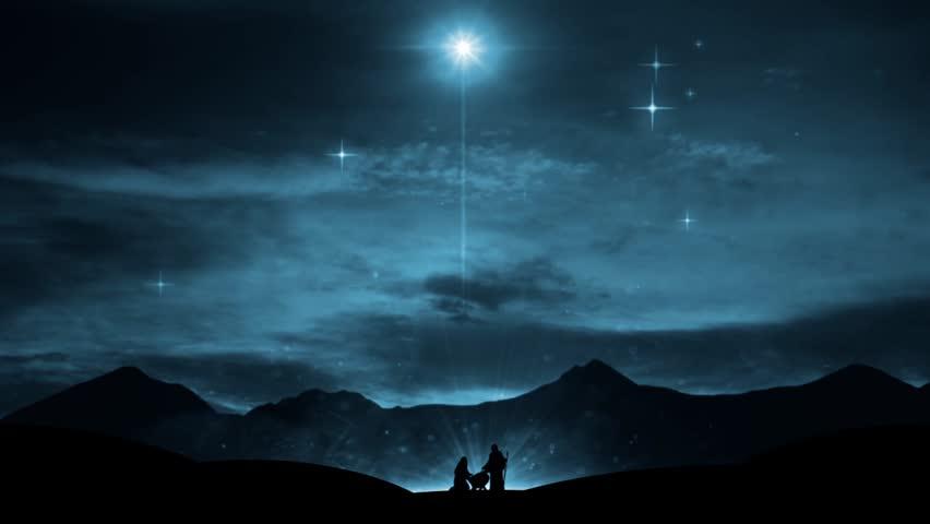 Christmas Nativity Scene Mary Joseph Stock Footage Video