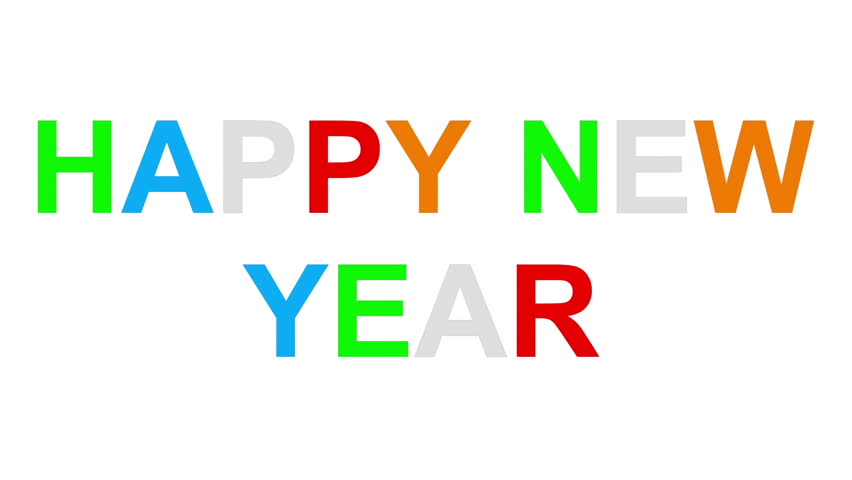 Happy new year - 30fps loop - randomized playful colorful letters 2d, loopable 0 - 2.5 seconds, with alpha matte | Shutterstock HD Video #20926789