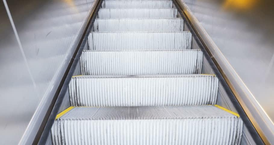 STRASBOURG, FRANCE - CIRCA 2016: Escalator climbing from underground to the old beautiful train station platform of Gare de Strasbourg | Shutterstock HD Video #20962129