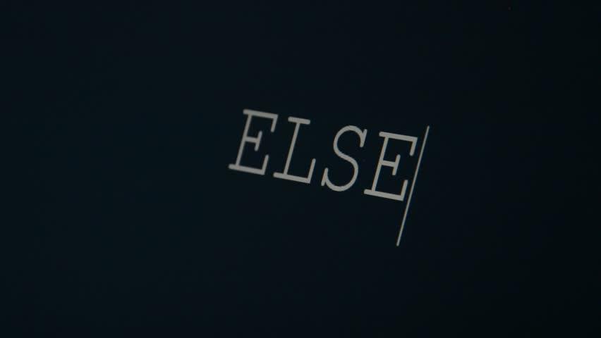 Header of else