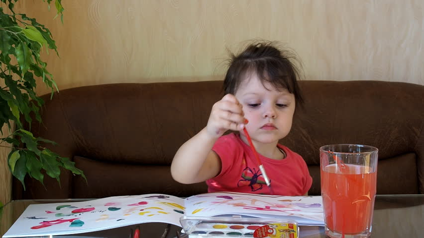 The child draws paints | Shutterstock HD Video #21034339