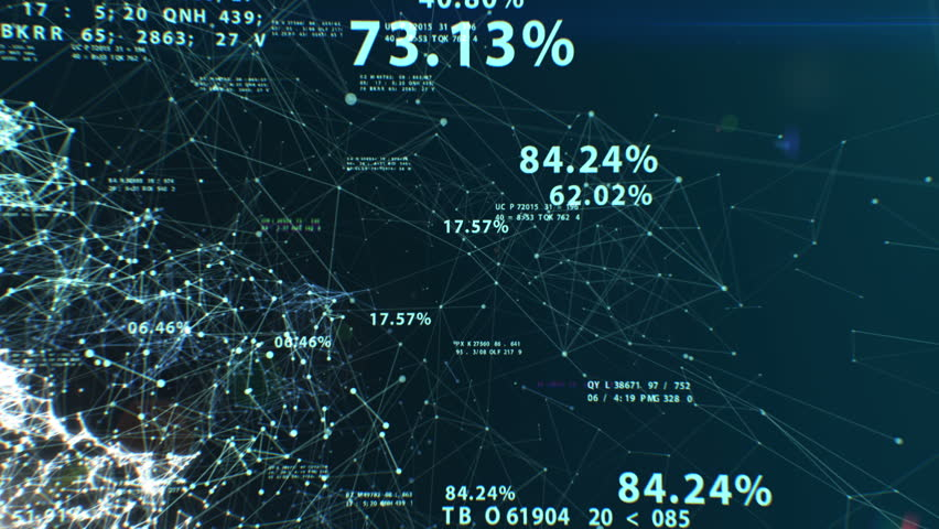 3d animation of the Abstract Global Business Network with Flying Numbers, Dots and Lines. Digital Technology Concept. Looped. HD 1080. | Shutterstock HD Video #21069553