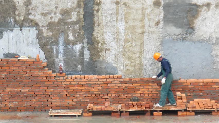Brick worker time lapse