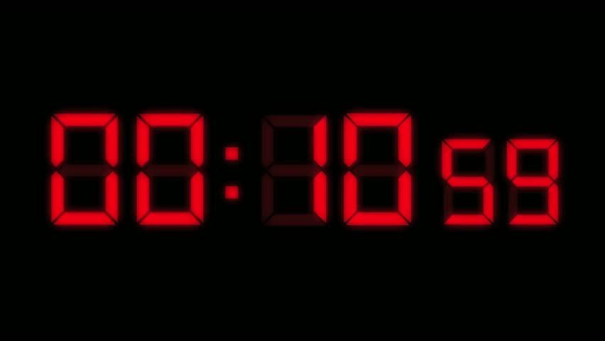 digital clock passing through 24 hours in 12 seconds