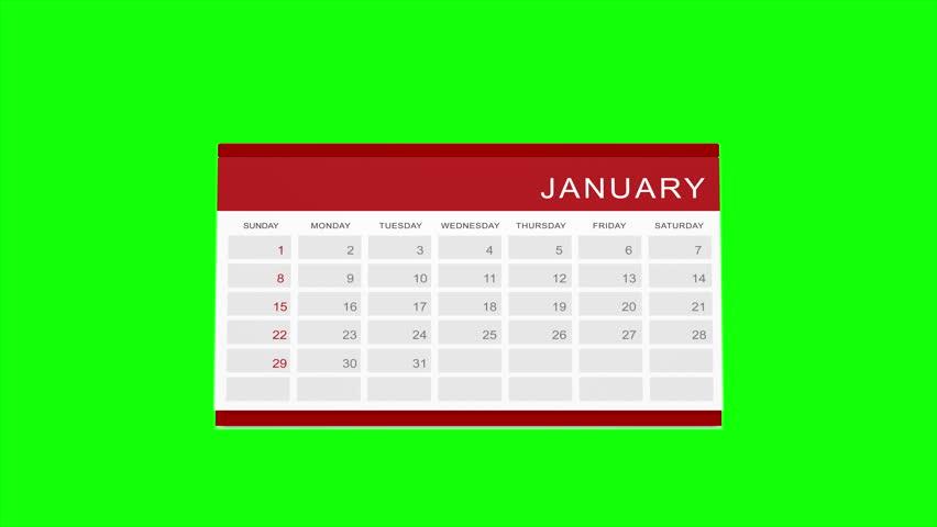 Calendar â?? Loop, green screen (4K, year 2017)  | Shutterstock HD Video #21149209
