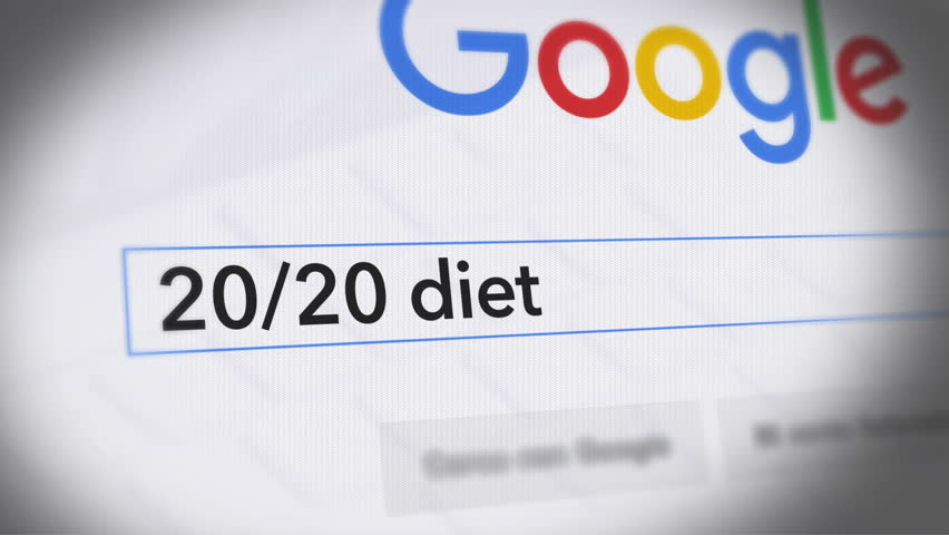 USA-Popular searches in 2015 Google Search Engine - Search For 20.20 diet Monitor with reflection hands typing a search on google | Shutterstock HD Video #21154399